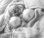 Fundo com esferas do Natal Imagem de Stock