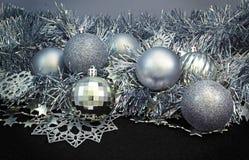 Fundo com esferas do Natal Imagens de Stock Royalty Free
