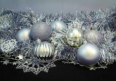 Fundo com esferas do Natal Fotografia de Stock