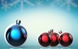 Fundo com esferas do Natal ilustração 3D Imagens de Stock Royalty Free