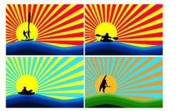Fundo com esportes de água Imagens de Stock