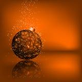 Fundo com estrelas e esfera do Natal EPS 8 ilustração stock