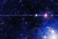 Fundo com estrelas e fractals fotografia de stock royalty free