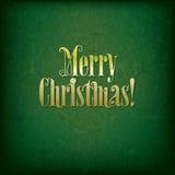 Fundo com Feliz Natal original do texto da pia batismal Fotos de Stock