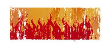 Fundo com flama ilustração royalty free