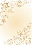 Fundo com flocos de neve Fotos de Stock Royalty Free