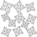 Fundo com flocos de neve quadriculação Fotografia de Stock Royalty Free