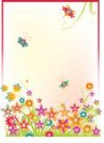 Fundo com flores ilustração stock