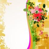 Fundo com flores Fotos de Stock