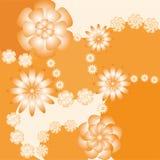 Fundo com flores ilustração do vetor
