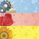 Fundo com flores Fotos de Stock Royalty Free