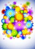 Fundo com flores abstratas ilustração royalty free