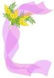 Fundo com flores da mimosa ilustração do vetor