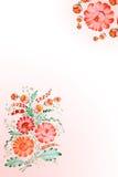 Fundo com flores desenhadas ilustração stock