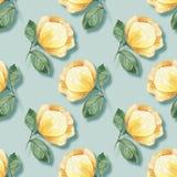 Fundo com flores 22 do amarelo Fotos de Stock