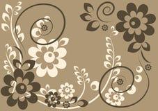 Fundo com flores e folhas Ilustração Stock