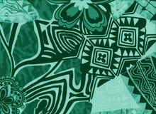 Fundo com flores e formas geométricas abstratas Fotografia de Stock Royalty Free