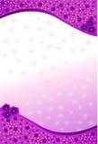 Fundo com flores roxas Foto de Stock Royalty Free