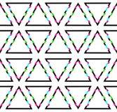 Fundo com formas do triângulo do pulso aleatório, teste padrão sem emenda da tecnologia ilustração stock