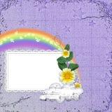 Fundo com frame Imagem de Stock
