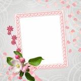 Fundo com frame Imagens de Stock Royalty Free