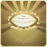 Fundo com frame do ouro Foto de Stock Royalty Free