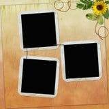 Fundo com frames Imagem de Stock