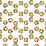 Fundo com frutos tropicais maduros - abacaxis e pêssegos ilustração stock