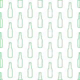 Fundo com garrafas Fotos de Stock