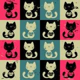 Fundo com gatos Imagens de Stock