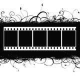 Fundo com Grunge Filmstrip ilustração stock