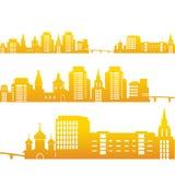 Fundo com grupo de construções urbanas Ilustração do Vetor