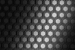 Fundo com hexágonos de repetição estruturados metálicos ilustração do vetor