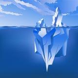 Fundo com iceberg Vetor Imagens de Stock