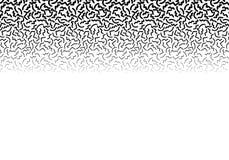 Fundo com linha abstrata teste padrão de memphis e inclinação da espessura Ilustração Stock