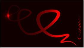 Fundo com linha vermelha mais a seta - ilustração do vetor ilustração stock