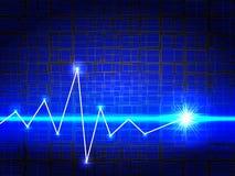 Fundo com luzes azuis brilhantes Foto de Stock Royalty Free