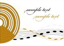 Fundo com música Imagem de Stock Royalty Free