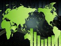 Fundo com mapa Foto de Stock