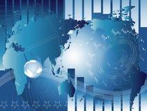 Fundo com mapa Imagens de Stock Royalty Free
