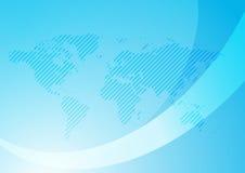 Fundo com mapa abstrato - luz - azul Foto de Stock