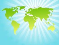 Fundo com mapa de mundo Fotos de Stock