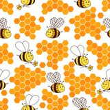 Fundo com mel e insetos Fotos de Stock