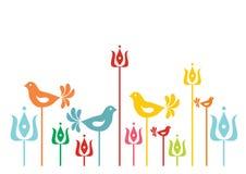 Fundo com motivo floral húngaro tradicional Imagens de Stock