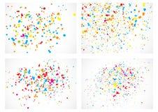 Fundo com muitos confetes aleatórios redondos minúsculos de queda ilustração royalty free