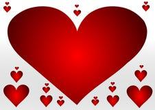 Fundo com muitos corações fotos de stock royalty free
