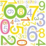 Fundo com números ilustração stock