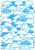 Fundo com nuvens Imagens de Stock Royalty Free