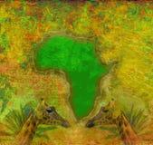 Fundo com o continente de África Fotografia de Stock Royalty Free