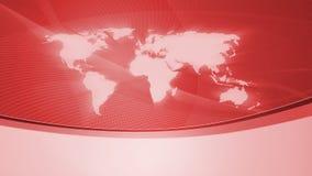 Fundo com o mapa de mundo, vermelho Fotos de Stock Royalty Free